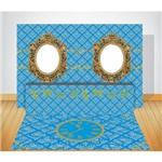 Kit Sênior Espelhos Azul Painel + Saia + Tapete em Lona