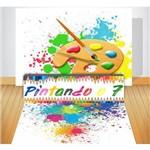 Kit Sênior Pintando o 7 - Painel + Saia de Mesa + Tapete em Lona
