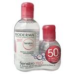 Kit Sensibio H2o Sol Micelar Demaquilante Bioderma 250+100ml