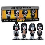 Kit Set Banda Kiss 04 Figuras Funko Mini Wacky Wobbler Bobble Head