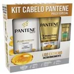 Kit Shampoo Pantene Liso 400ml + Condicionador 175ml + Ampola 15ml