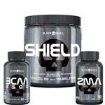 Kit Shield + Bcaa + Zma - Black Skull