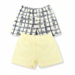 Kit Shorts Bebê Grow Up Menino em Algodão Trip Xadrez e Amarelo