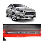 Kit Soleira Ford New Fiesta Fina 4p Aço Escovado Resinado