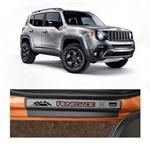 Kit Soleira Jeep Renegade Premium Aço Escovado Resinado 2015 4 Portas