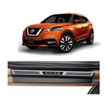 Kit Soleira Nissan Kicks 4p Premium Aço Escovado Resinado