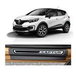 Kit Soleira Renault Captur 4P Premium Aço Escovado Resinado