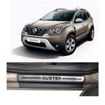 Kit Soleira Renault Duster Premium Aço Escovado Resinado 2011 a 2015 4