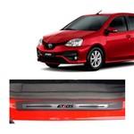 Kit Soleira Toyota Etios Premium Aço Escovado Resinado 2013 a 2015 4