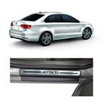 Kit Soleira Volkswagen Jetta Tsi Premium Aço Escovado Resinado 2011 a 2015