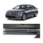 Kit Soleira Volkswagen Passat 2018 4p Aço Escovado Resinado