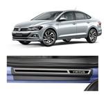 Kit Soleira Volkswagen Virtus 4P Premium Aço Escovado Resinado