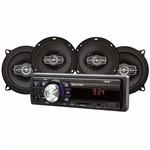 Kit Som Automotivo Multilaser Mp3 One Usb 2 Pares Alto-falantes 5 e 6 Polegadas 220 W Rms Au954