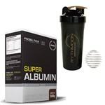 Kit SUPER ALBUMIN 500G Chocolate + Coqueteleira 600ml com Mola