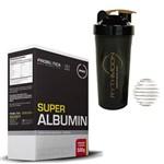 Kit SUPER ALBUMIN 500G Morango com Banana + Coqueteleira 600ml com Mola