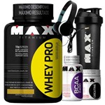 Kit Suplementos Ganho de Massa Muscular - Max Titanium