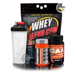 Kit Suplementos Ganho de Massa - Whey Blend + Creatina Advanced + Bcaa Premium + Coqueteleira