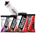 Kit Suplementos Ganho de Massa 2x Whey Protein Concentrado + 2x Maltodextrina + Squeeze Body Action