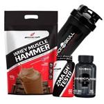 Kit Suplementos Whey Protein 900g + Bcaa + Zma Testosterona Caps