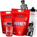 Kit Suplementos 2x Whey Protein Concentrado 900g + Bcaa 2 1 1 90 Capsulas Wey