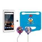 Kit Tablet com Capa Infantil Galinha Pintadinha + Fone de Ouvido Frozen Multilaser