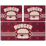 Kit Tapete para Cozinha 3 Peças Gourmet Burger Jolitex