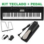 Kit Teclado Musical Ctk-3200 Casio + Fonte + Pedal Sustain