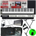 Kit Teclado Sintetizador 61 Teclas Xw-g1 Casio com Pedal e Fone Akg