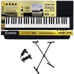 Kit Teclado Sintetizador 61 Teclas Xw-p1 Gd Gold Casio com X10s Ask