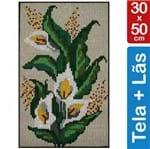 Kit Tela para Bordar 30x50 - 3807 Copo de Leite