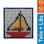 Kit Tela para Bordar 10x10 - 3103 Barco