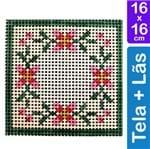 Kit Tela para Bordar 16x16 - 3203 Floral