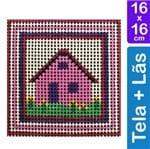 Kit Tela para Bordar 16x16 - 3208 Casa