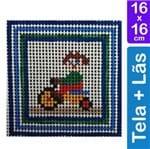 Kit Tela para Bordar 16x16 - 3211 Menina Triciclo