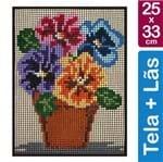 Kit Tela para Bordar 25x33 - 3704 Vaso