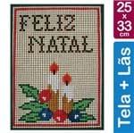 Kit Tela para Bordar 25x33 - 3705 Feliz Natal