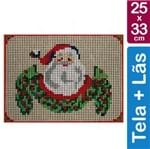 Kit Tela para Bordar 25x33 - 3706 Papai Noel