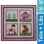 Kit Tela para Bordar 36x36 - 3401 Infantil Menina