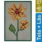 Kit Tela para Bordar 27x40 - 4903 Flor Amarela