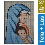 Kit Tela para Bordar 27x40 - 3905 Santa