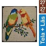 Kit Tela para Bordar 27x27 - 3601 Pássaros