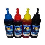 Kit Tinta Refil para Bulk Ink Tanque de Tinta Ecotank Epson L375 L375 L475 L355 100ml Corante