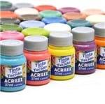 Kit Tintas para Tecido Acrilex: 36 Cores