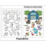 Kit Toalha Infantil para Colorir Fazendinha Buettner