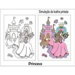 Kit Toalha Infantil para Colorir Princesa Buettner