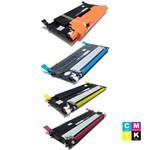 Kit Toner Compatível Samsung Clp315 Preto, Clp315 Ciano, Clp315 Amarelo e Clp315 Magenta