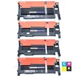 Kit Toner Samsung CLT 406 Clp360 Preto, Clp360 Ciano, Clp360 Magenta e Clp360 Amarelo Byqualy