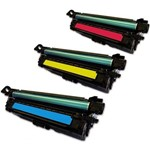 Kit 3 Toner Similares Hp 507A Coloridos CE401A CE402A CE403A Compativel HP LaserJet 500 M551 M551n M551dn M551xh M570 M570dn M575 M575F
