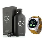 Kit Top Perfume Calvin Klein CK Be Unissex 200ml + Relógio Smart X3 - Chip - Ligação - Bluetooth