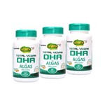 Kit 3 Total Vegan DHA Ômega 3 de Algas Unilife 60 Cápsulas